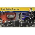 RUBBER TRUCK TYRES G7 BOX OF 8 Italeri 1:24 3889