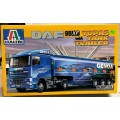 Scale DAF 95XF Topas With Tank Trailer Sealed , Italeri 1/24...