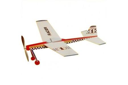 Kit de asamblare Avion balsa RACER 45cm, elice actionata cu elastic