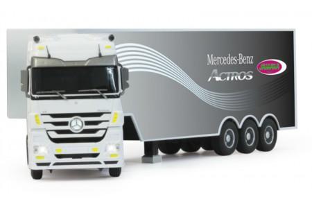 Camion Mercedes-Benz Actros ALB cu Telecomanda, 1:32 Jamara
