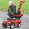 Masinuta fara pedale cu maner Mercedes GL63AMG rosu 90 cm, J...
