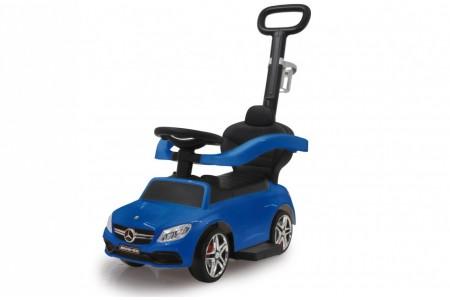 Masinuta cu maner Mercedes-Benz AMG C63 albastru 84 cm, Jamara