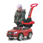 Masinuta fara pedale cu maner Mercedes GL63AMG rosu 90 cm, Jamara