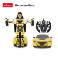 RC Robot Tranformers yellow 2,4 gHz No.74700