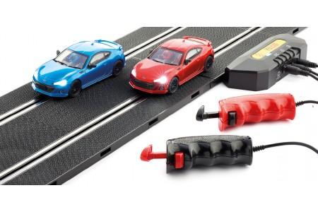 Circuit electric 4 in 1 cu 2 masinute Subaru BRZ, Policar 1:32, 380 cm