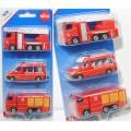 Set masinute de pompieri - Franta, Siku metal