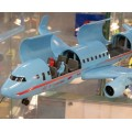 Avion comercial cu accesorii SIKUWORLD 5402