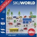 Set parcare cu garaje SIKU, masinute metalice